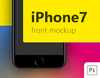 iPhone 7 Black front PSD mockup