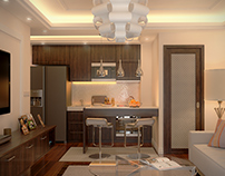 3D visualization apartment in Thailand.