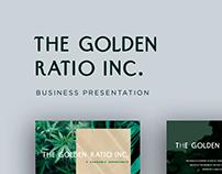 Business Presentation - The Golden Ratio Inc.