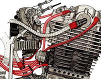 Yamaha SR 534cc Engine