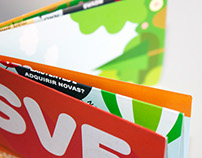 Foldable flyer design for European Voluntary Service