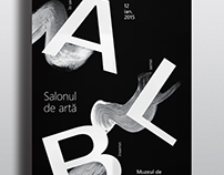 Alb/White - exhibition posters