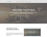 CitySun OnePage PSD web Template