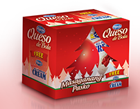 Queso de Bola Christmas Bundle Box Design Study