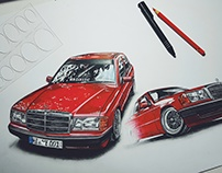 Car Illustrations | @autozeichner