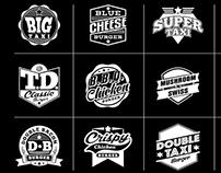 Taxi Burger Badge Logo