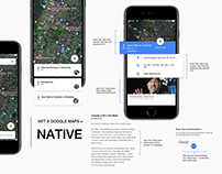 New York Times X Google Maps UX Case Study