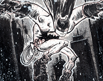 Free falling batman