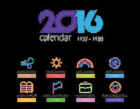 Calendar 2016 | التقويم الميلادي