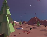 Low-poly 3D landscape