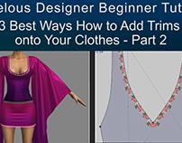 Free Marvelous Designer Beginner Tutorial -Trims Part2