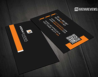 Free Black Corporate Elegant Business Card Template