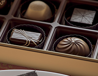high-end chocolate CGI