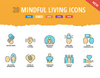 20 Mindful Living Icons