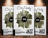 Night City Party Flyer Template