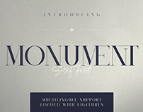 Monument - All Caps Serif Font ( free download )