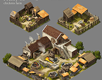 Age of Sparta building concepts for Gameloft