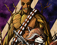 Rocket and Groot a Guardians of the galaxy story