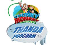 Chunky Monkey Thanda Program Logo Designing