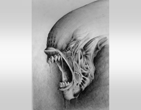 Ilustration - My version of the HR Giger Alien
