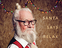 Santa Says Relax - Merry Christmas