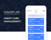 Credit Card Management - Concept App