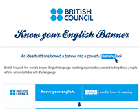 British Council's 'Know your English' Banner
