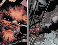 Star wars color samples over John Cassaday's art!!!