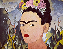 Frida Kahlo replication