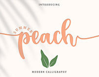 Free Summer Peach Calligraphy Font