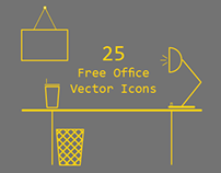 25 FREE OFFICE VECTOR ICONS