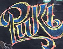 Puki. Chalk lettering