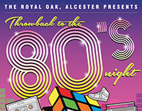 Retro 80's Disco Night Poster