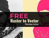 Raster to Vector Psd Action