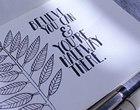 Believe you can - Lettering