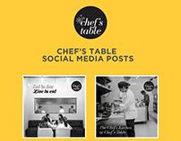 Chef's Table Social Media Designs
