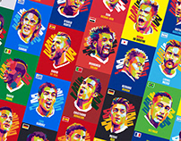 Iconic World Cup 2018 Players - for CryptoStrikers.com