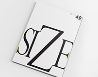 Cover and Page Layout for Size Magazine