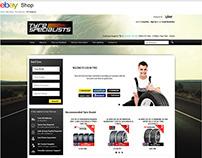 Tyre Specialist ebay shop design