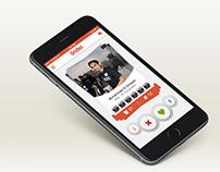 Tinder app's Swipe-Screen Redesign