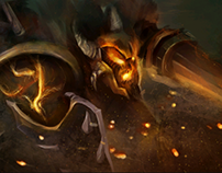 Warriors in hell Concept Art. Style frames.