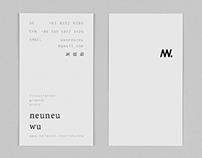 Name card design / Self promotion