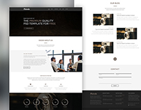 "Free One Page Corporate Agency PSD Template ""MAIRALA"""
