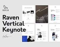 Raven Vertical Keynote Template / Gift Resume