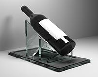 Expositor para garrafa de vinho/Wine bottle display