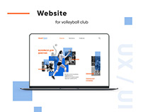 Design of website. Volleyball club Volleykids