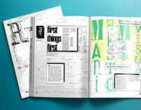 R-E, a graphic design process magazine. Vol.01