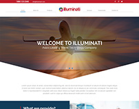 Homepage design for Illuminati