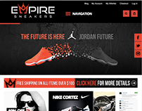 Empire Sneakers Mobile Responsive Website