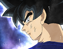Illustration : Dragon Ball Super - Goku Ultra Instinct